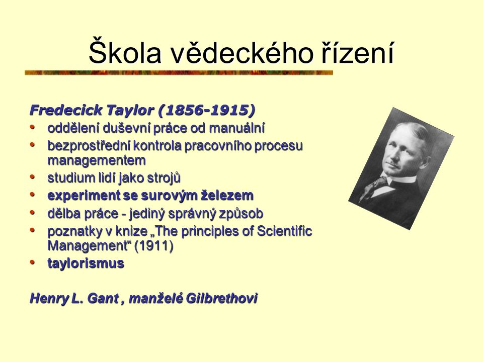 Škola vědeckého řízení