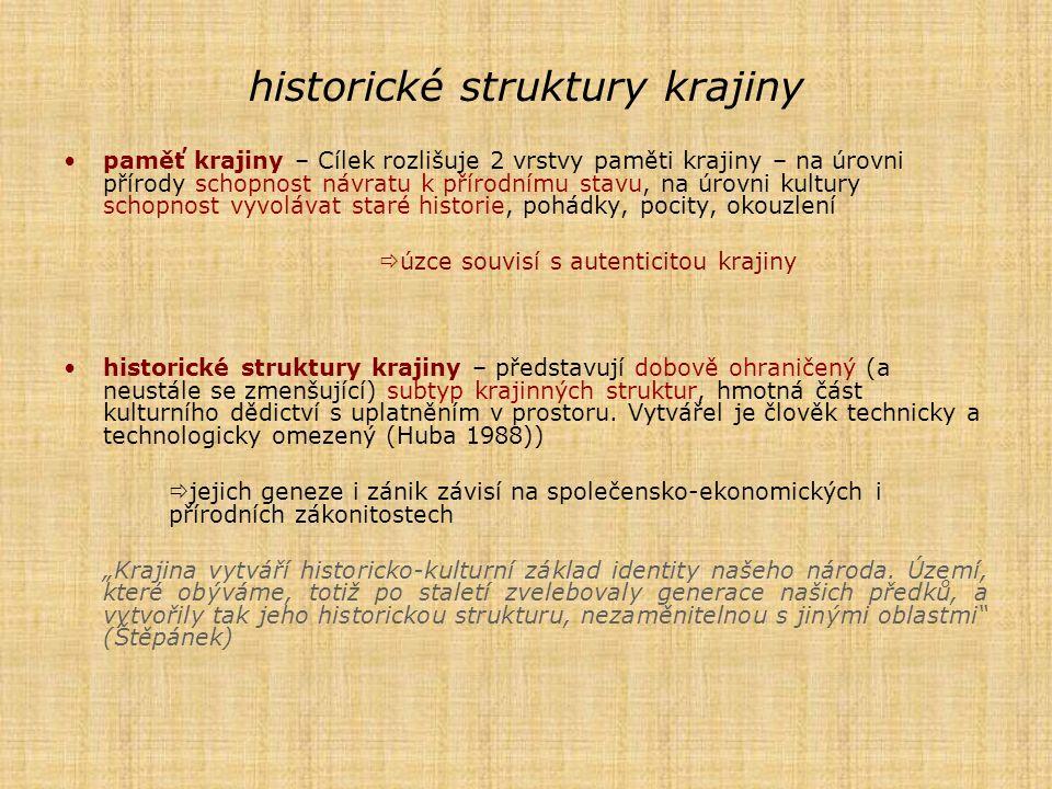 historické struktury krajiny