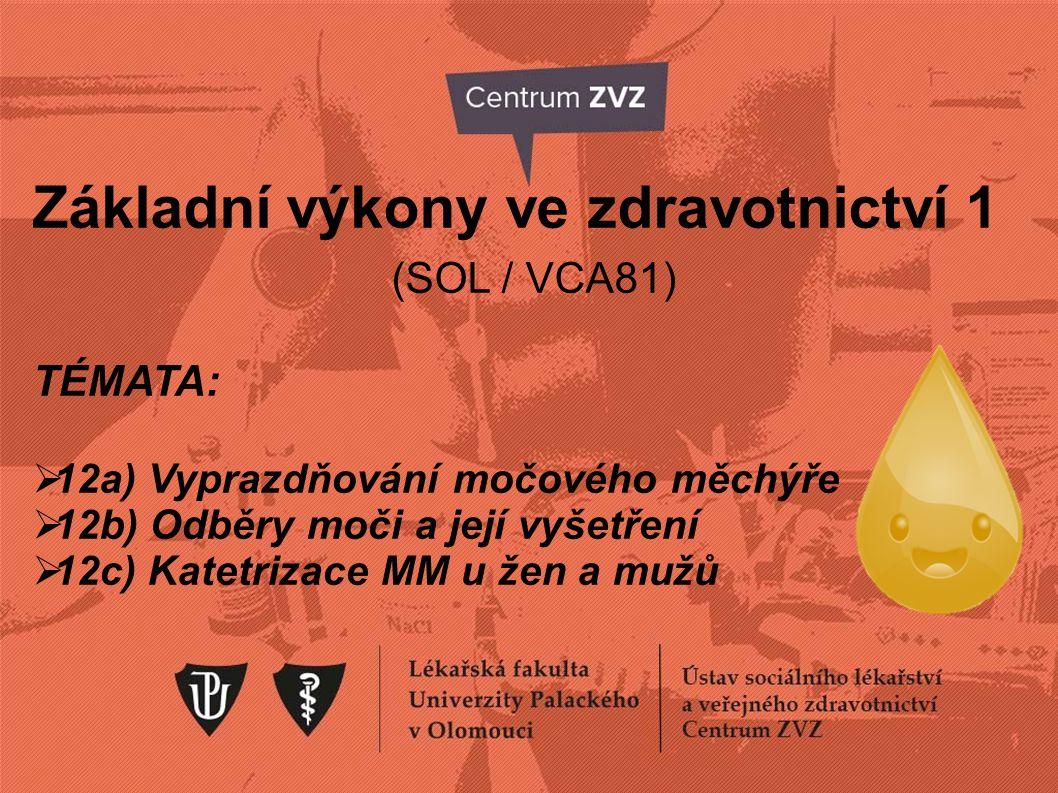 Základní výkony ve zdravotnictví 1 (SOL / VCA81)