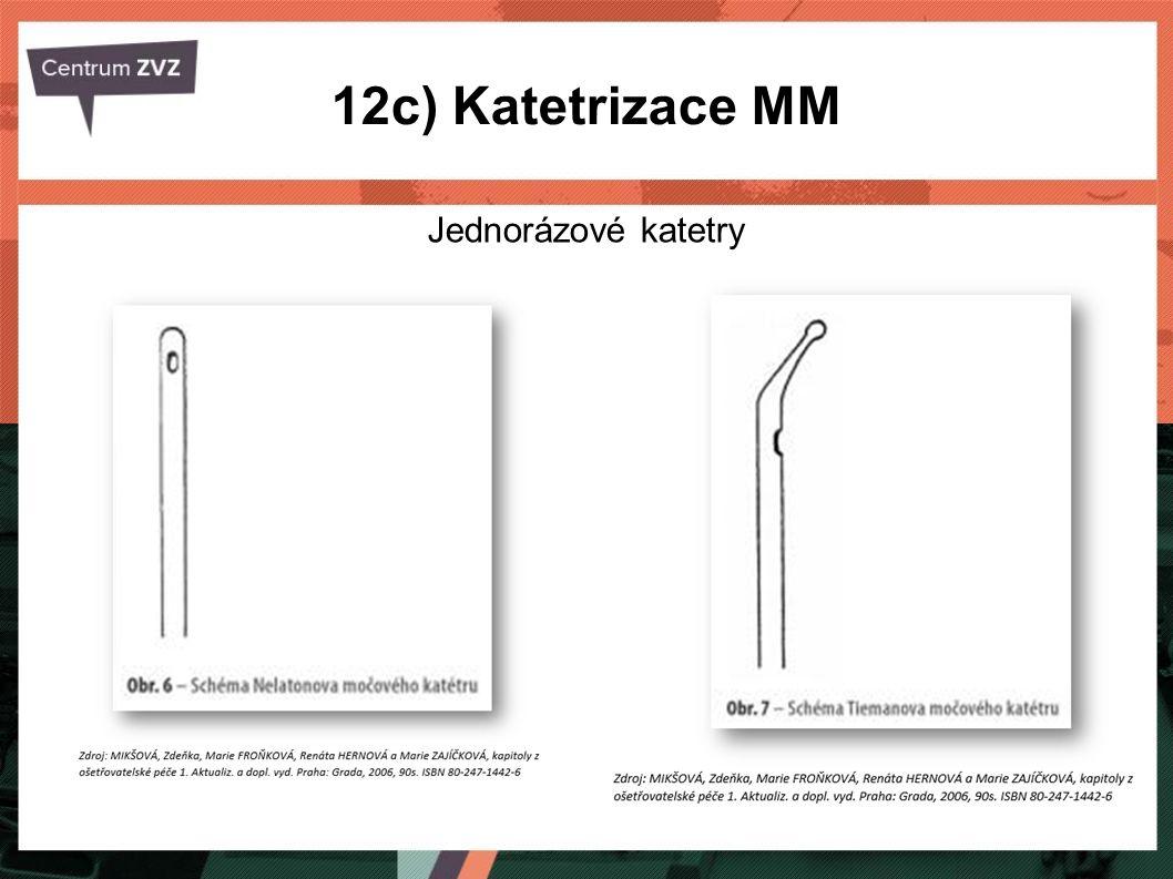 12c) Katetrizace MM Jednorázové katetry