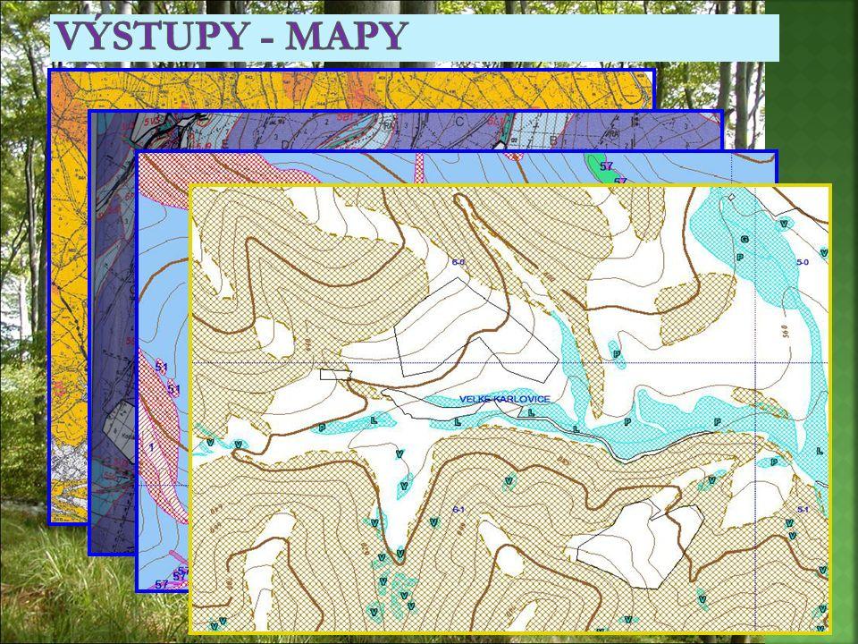 Výstupy - mapy