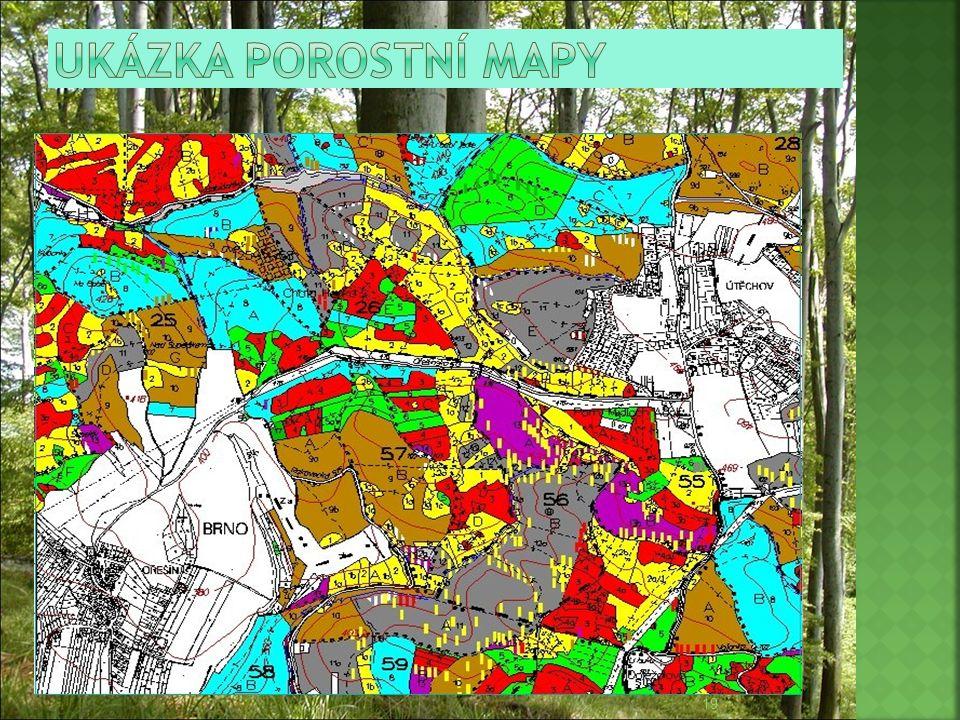 Ukázka porostní mapy