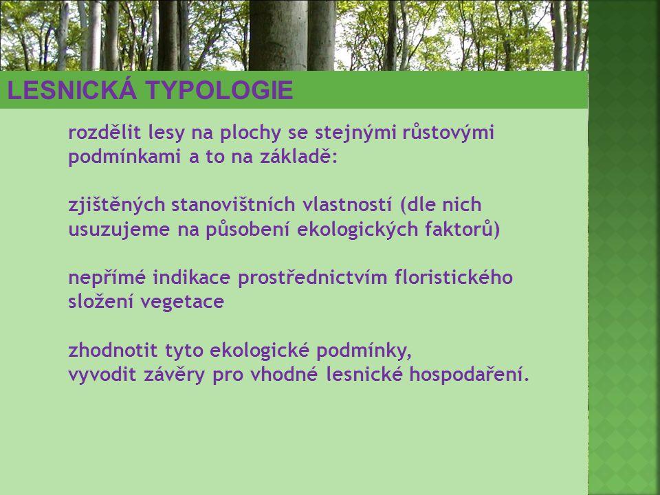 rozdělit lesy na plochy se stejnými růstovými