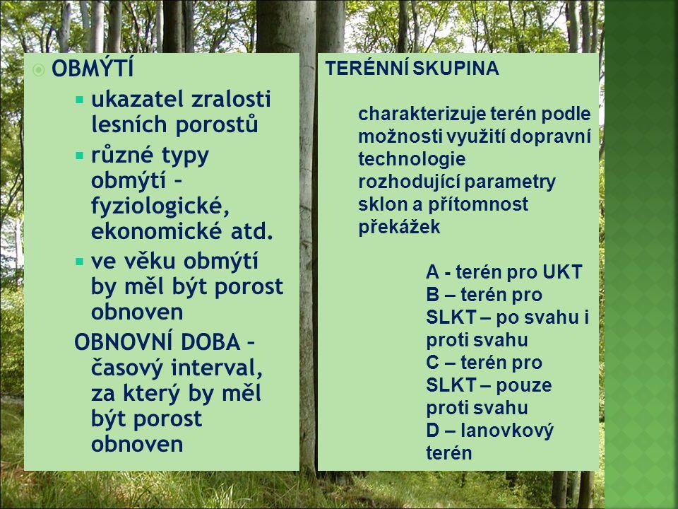 ukazatel zralosti lesních porostů