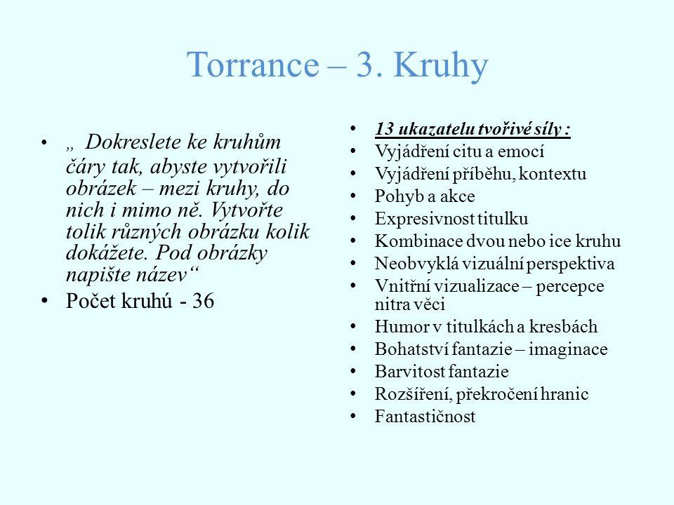 Torrance – 3. Kruhy Počet kruhú - 36