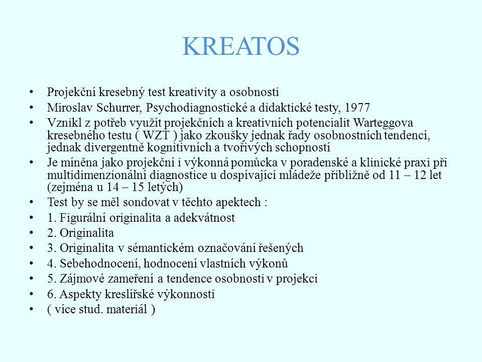 KREATOS Projekční kresebný test kreativity a osobnosti