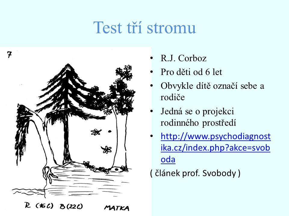 Test tří stromu R.J. Corboz Pro děti od 6 let