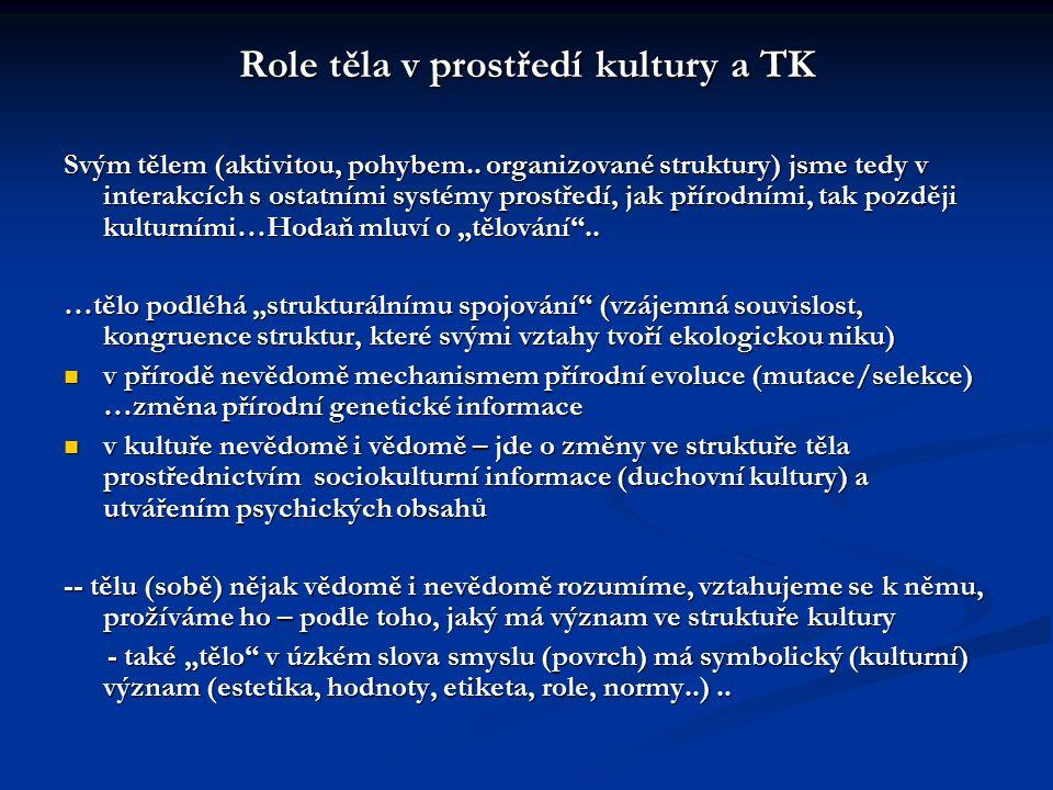 Role těla v prostředí kultury a TK