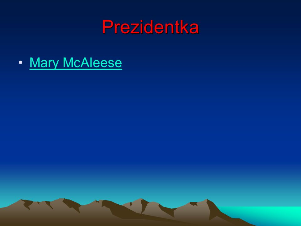 Prezidentka Mary McAleese