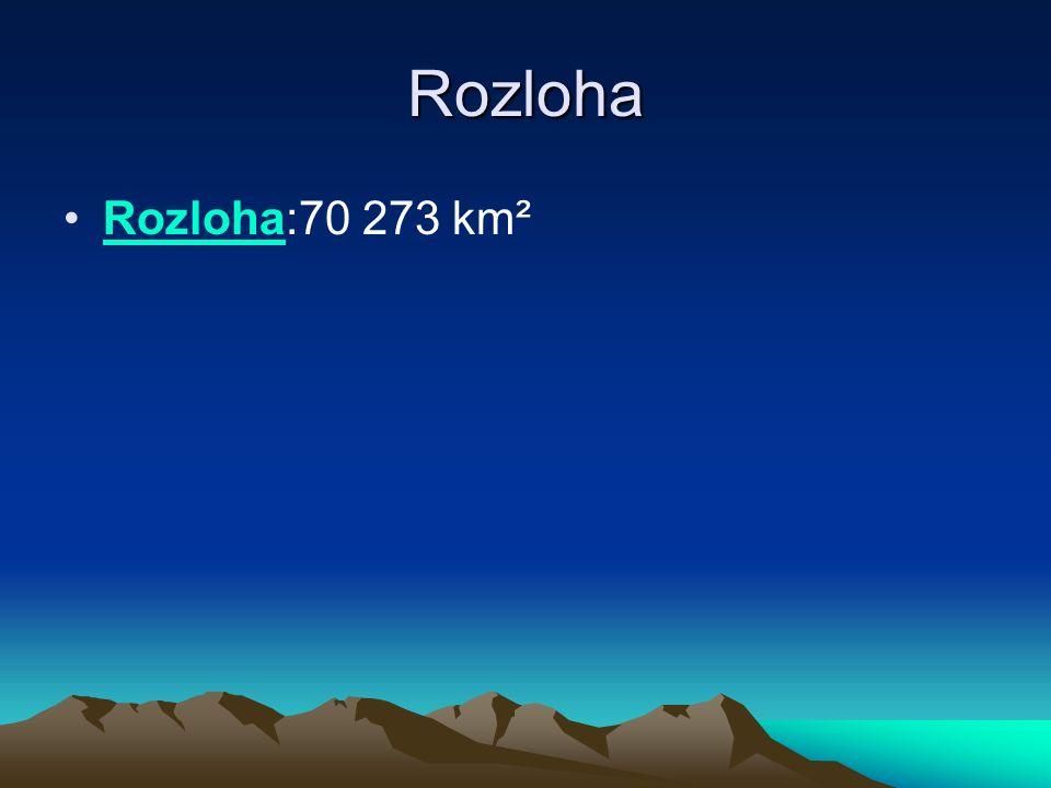 Rozloha Rozloha:70 273 km²