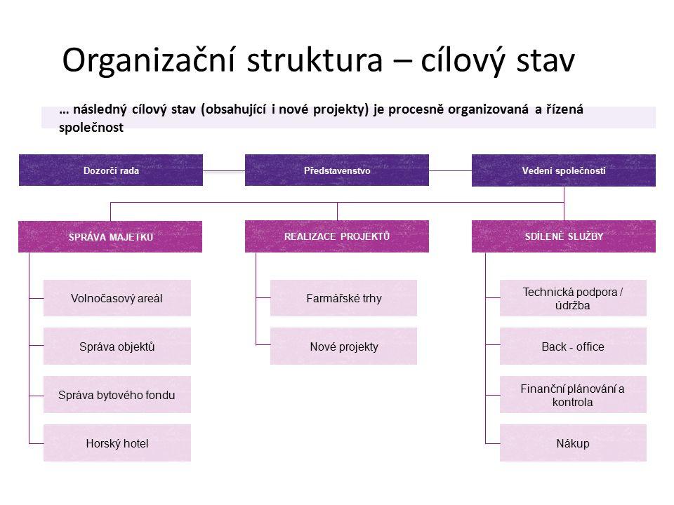 Organizační struktura – cílový stav