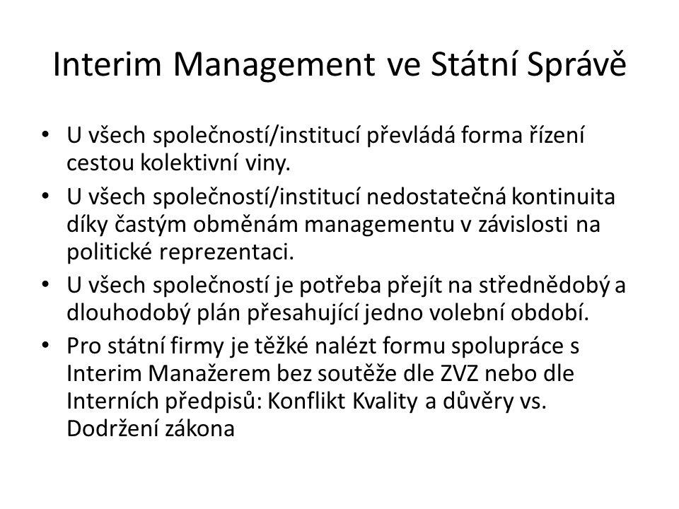 Interim Management ve Státní Správě