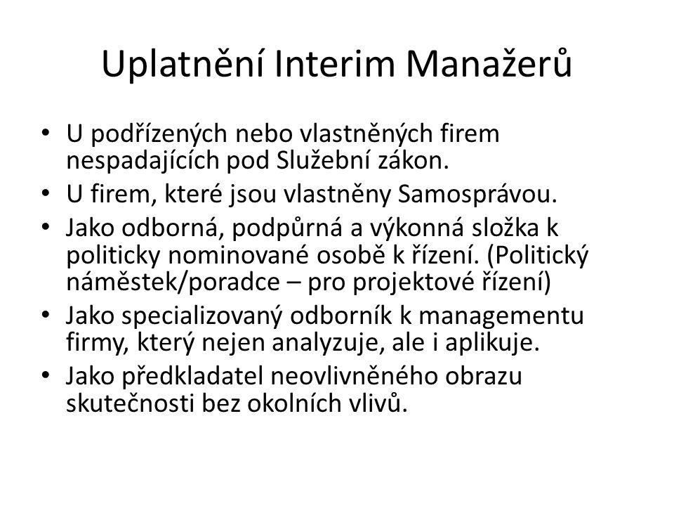 Uplatnění Interim Manažerů