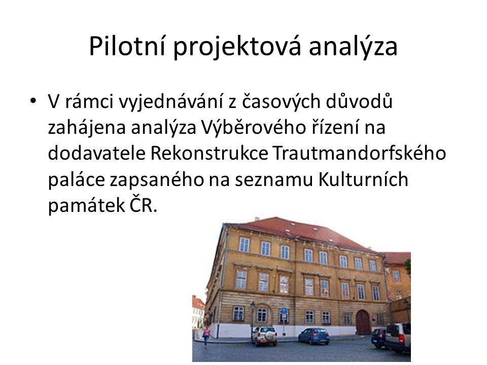 Pilotní projektová analýza
