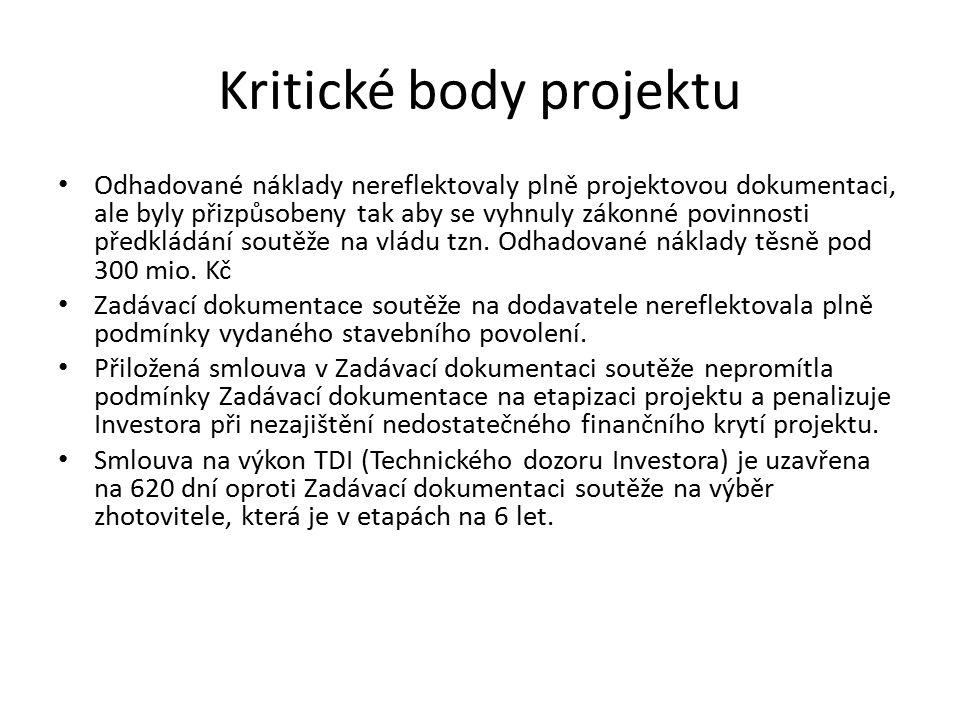 Kritické body projektu