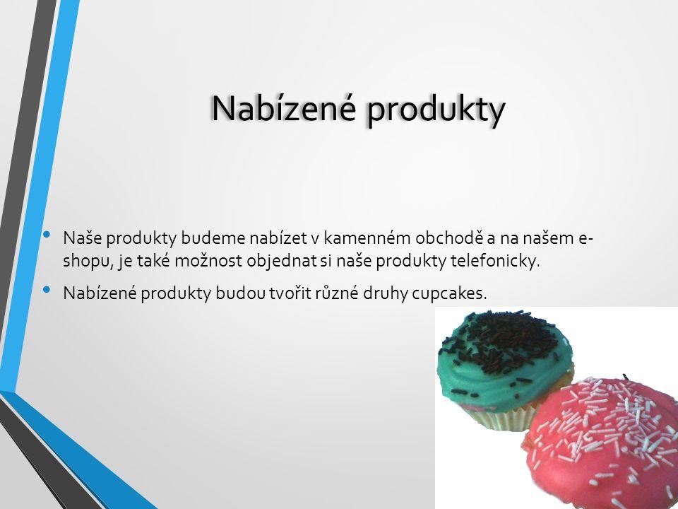 Nabízené produkty Naše produkty budeme nabízet v kamenném obchodě a na našem e- shopu, je také možnost objednat si naše produkty telefonicky.