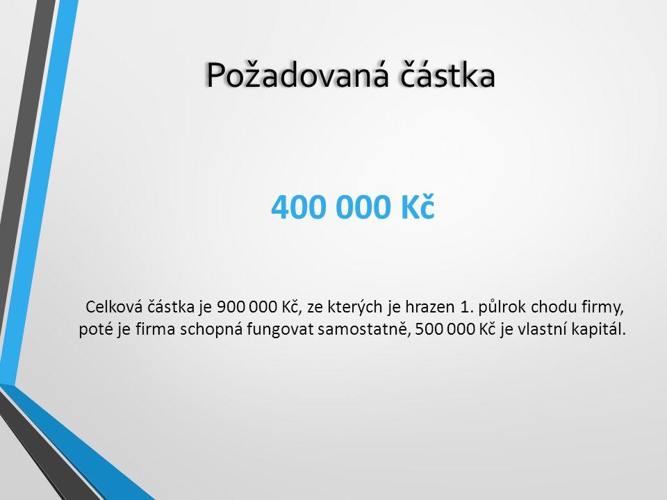 Požadovaná částka 400 000 Kč.