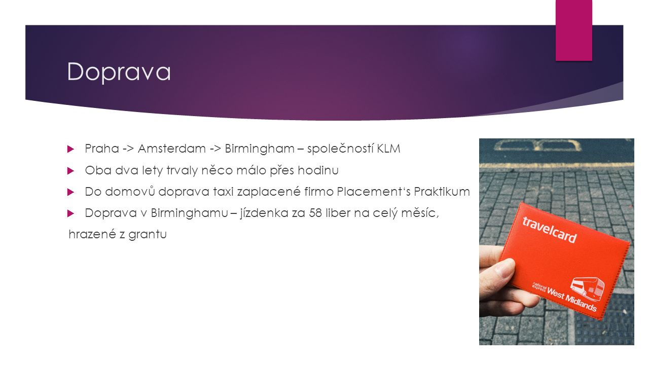 Doprava Praha -> Amsterdam -> Birmingham – společností KLM