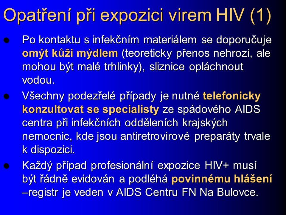 Opatření při expozici virem HIV (1)