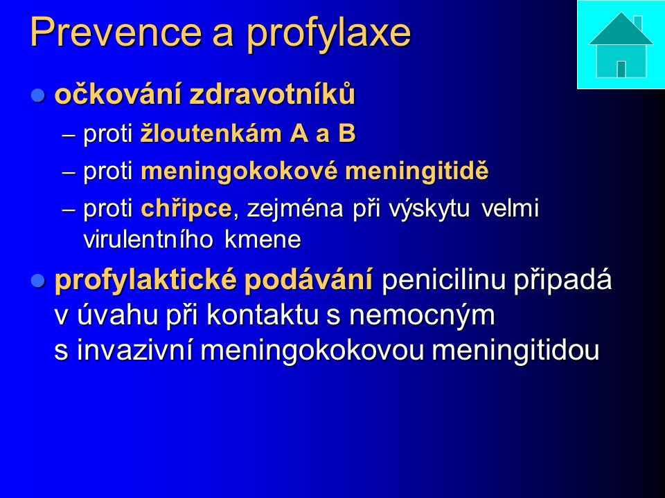 Prevence a profylaxe očkování zdravotníků
