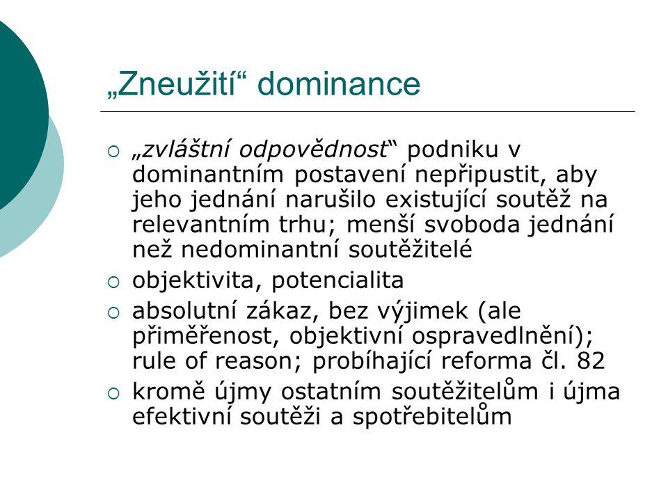 """""""Zneužití dominance"""