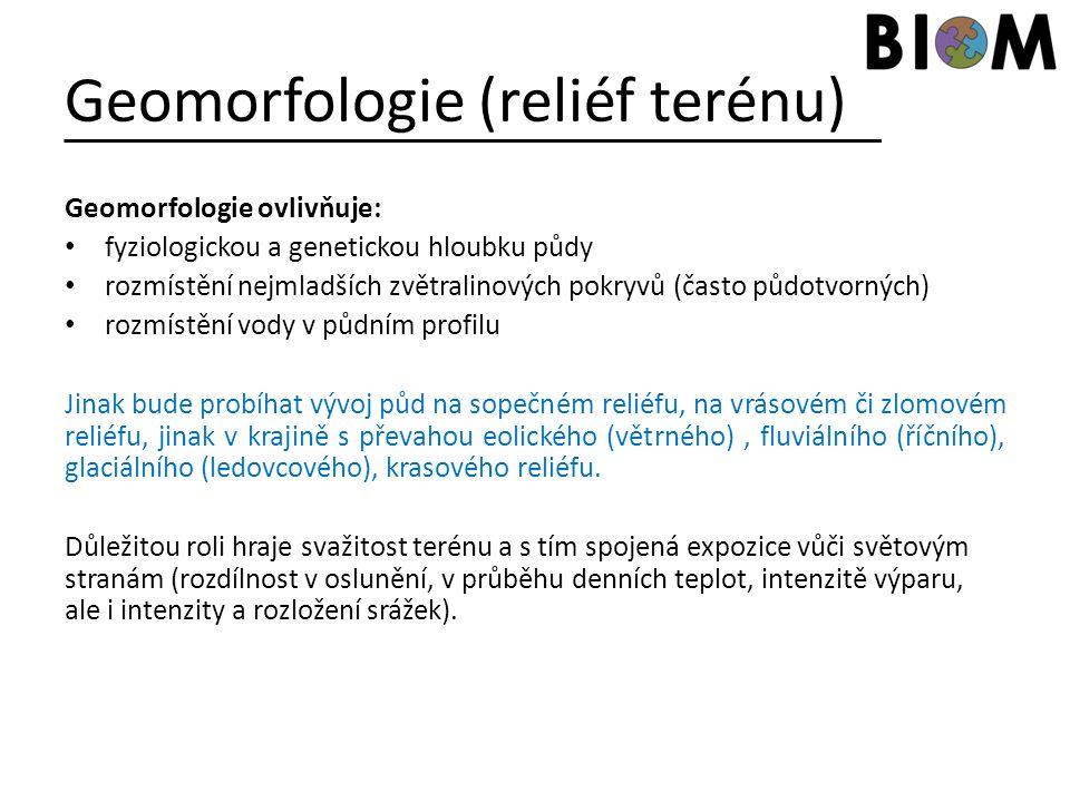 Geomorfologie (reliéf terénu)