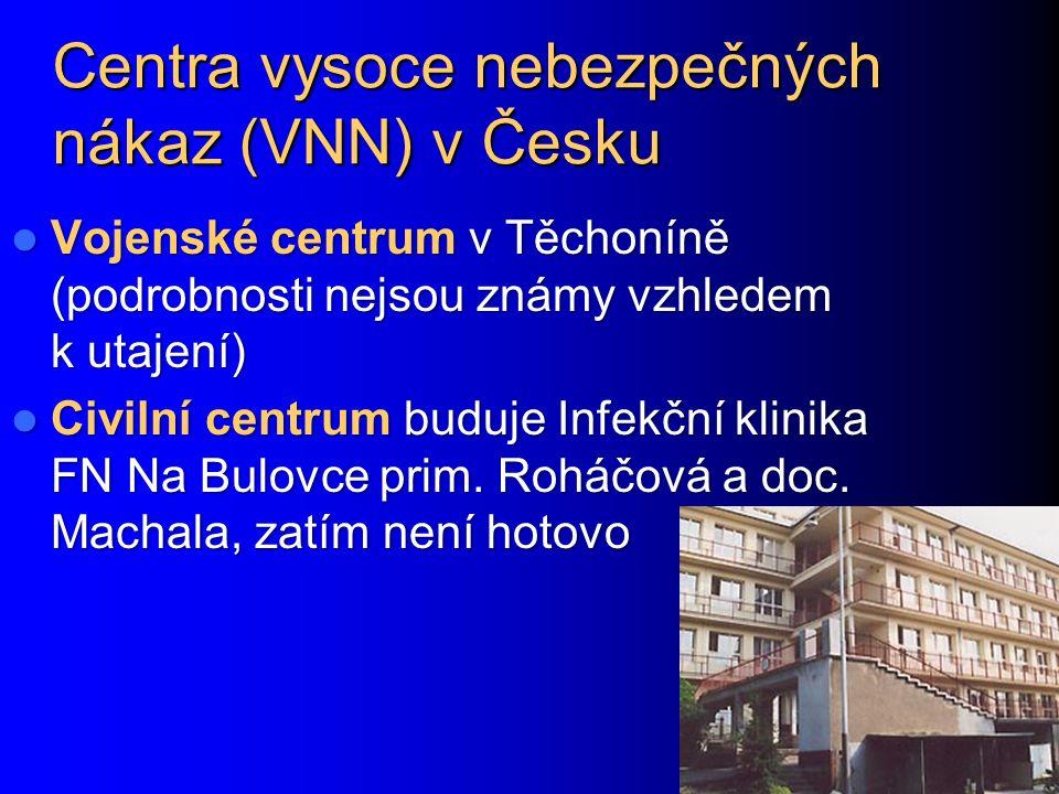 Centra vysoce nebezpečných nákaz (VNN) v Česku