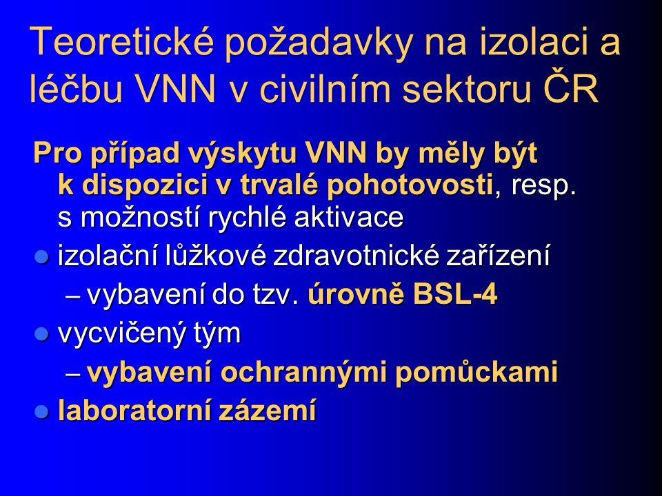 Teoretické požadavky na izolaci a léčbu VNN v civilním sektoru ČR
