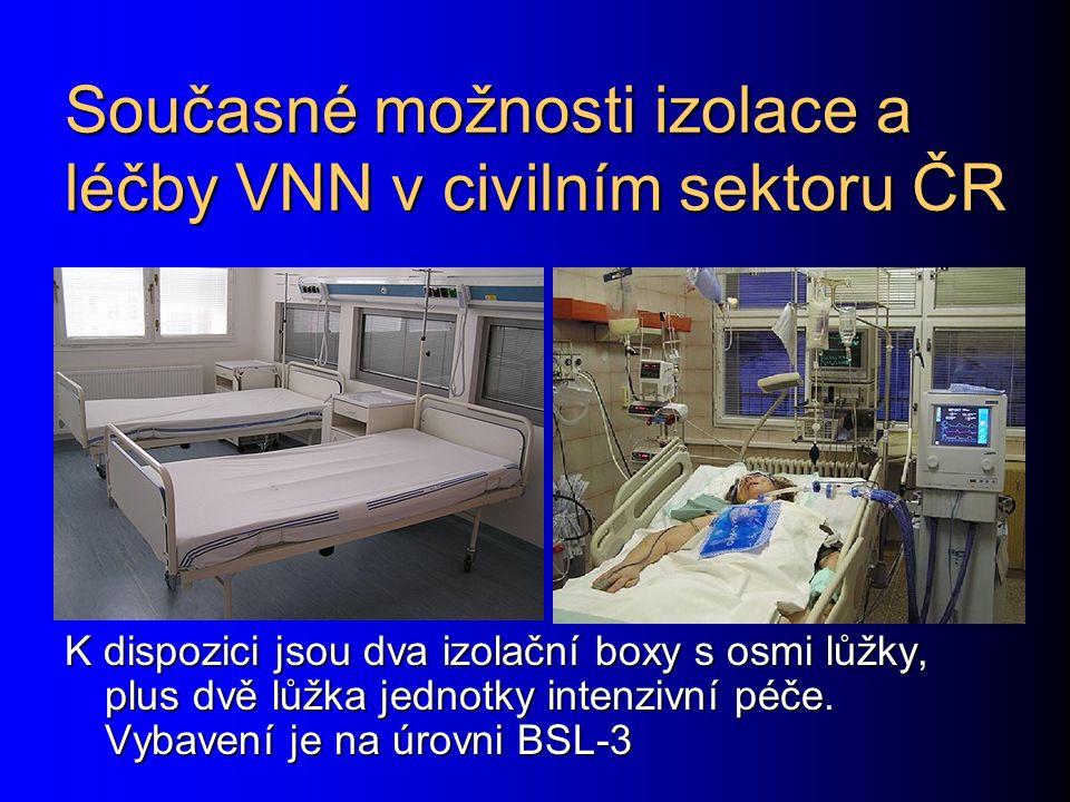Současné možnosti izolace a léčby VNN v civilním sektoru ČR