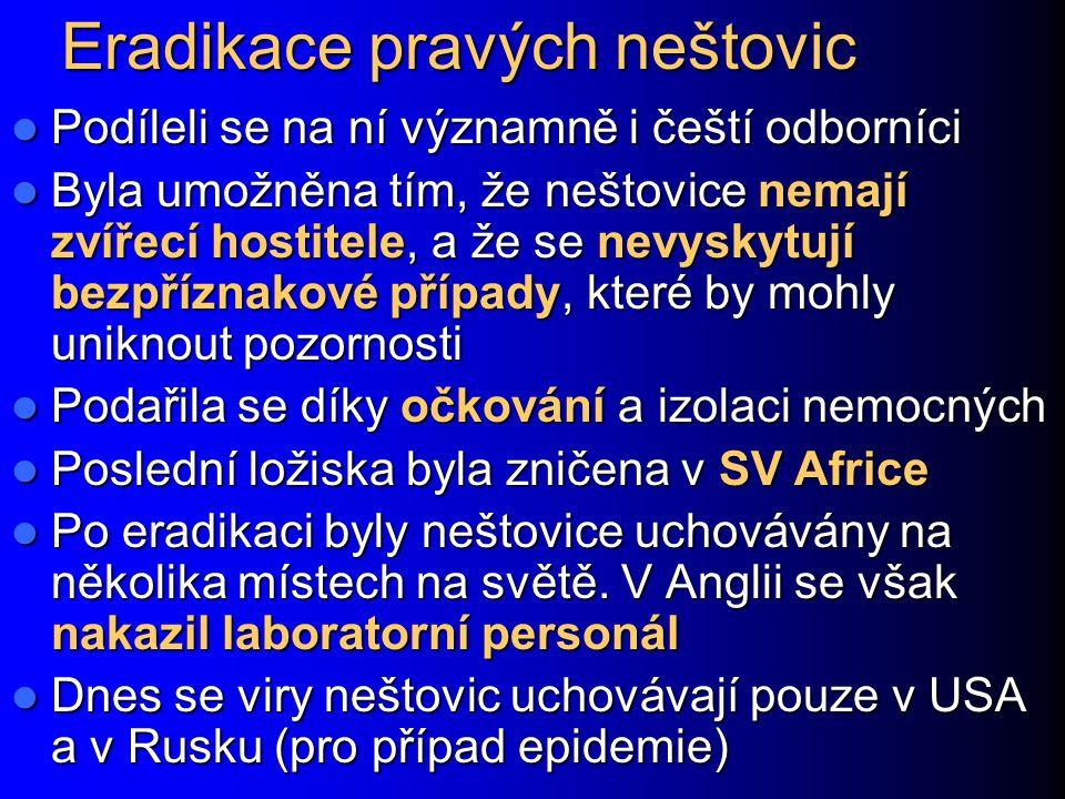 Eradikace pravých neštovic