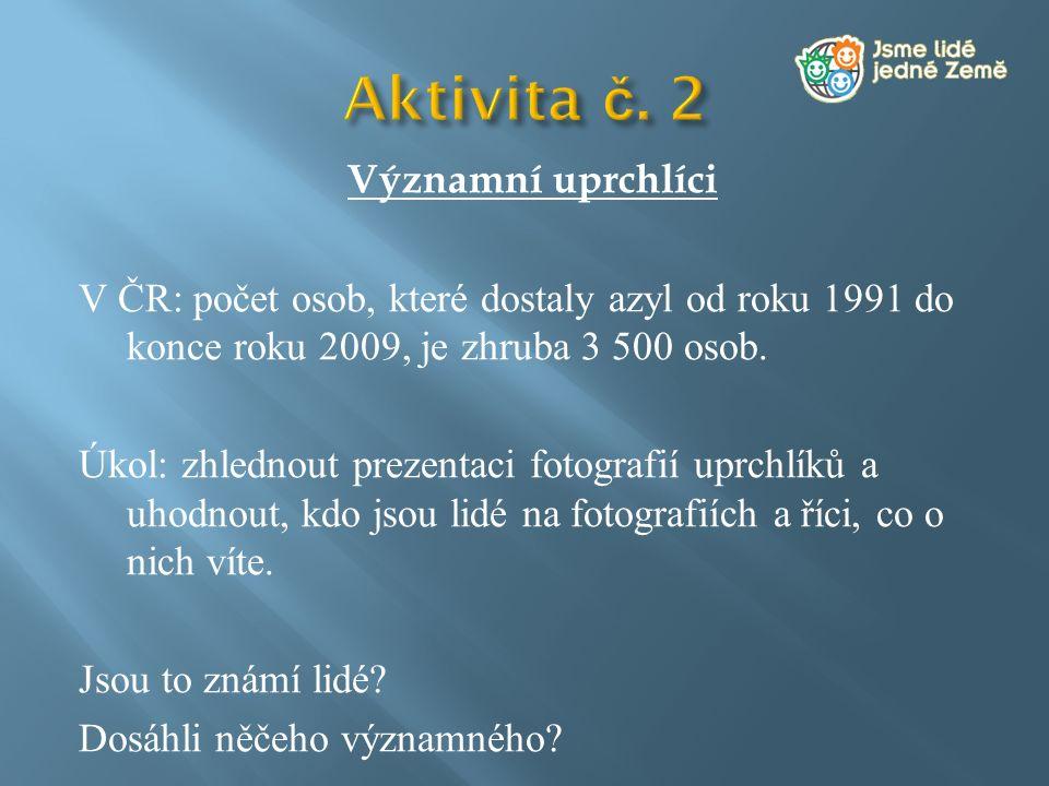 Aktivita č. 2