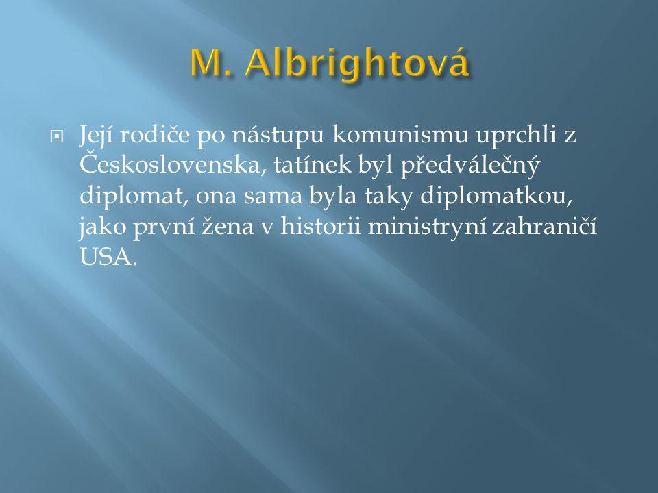 M. Albrightová