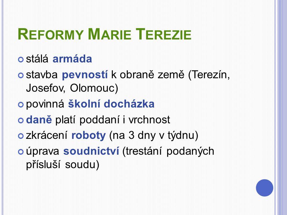 Reformy Marie Terezie stálá armáda