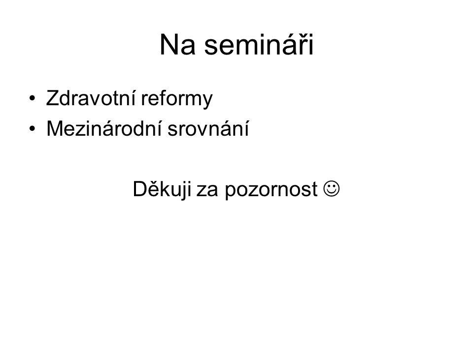 Na semináři Zdravotní reformy Mezinárodní srovnání