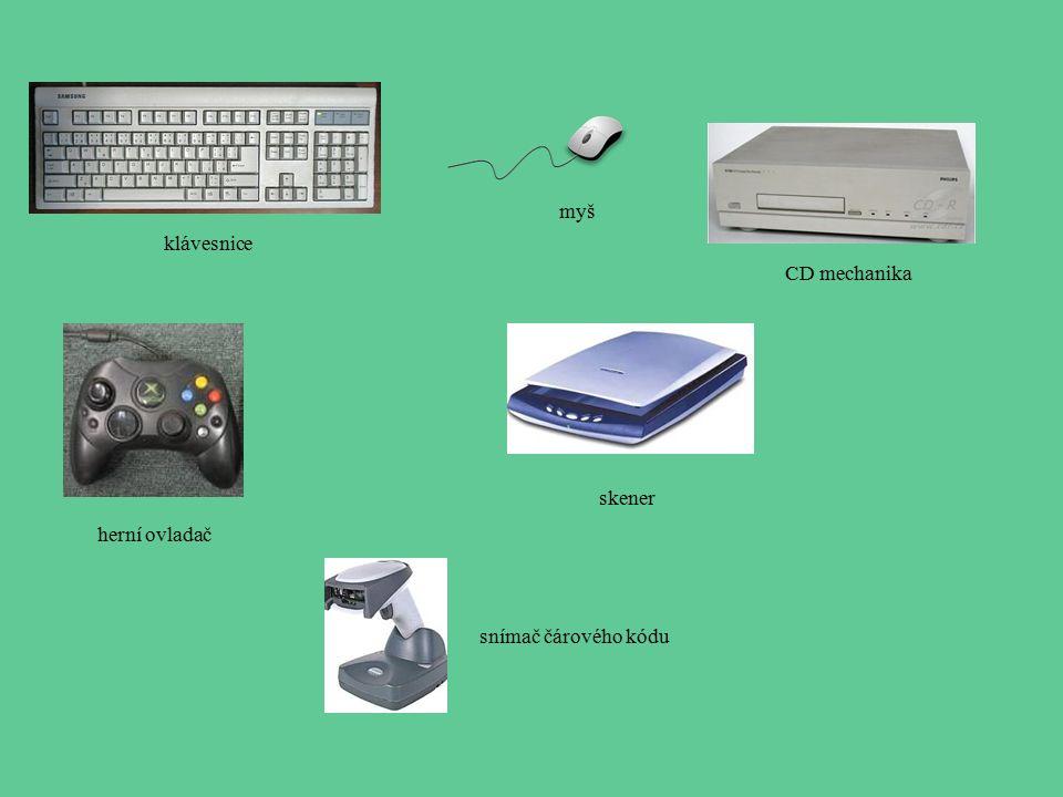 myš klávesnice CD mechanika skener herní ovladač snímač čárového kódu