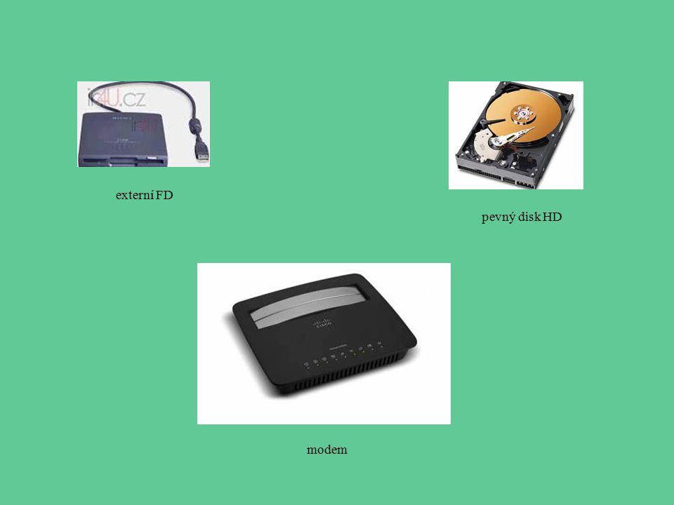 externí FD pevný disk HD modem