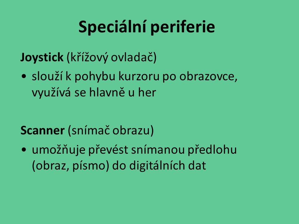 Speciální periferie Joystick (křížový ovladač)