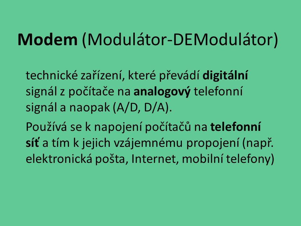 Modem (Modulátor-DEModulátor)
