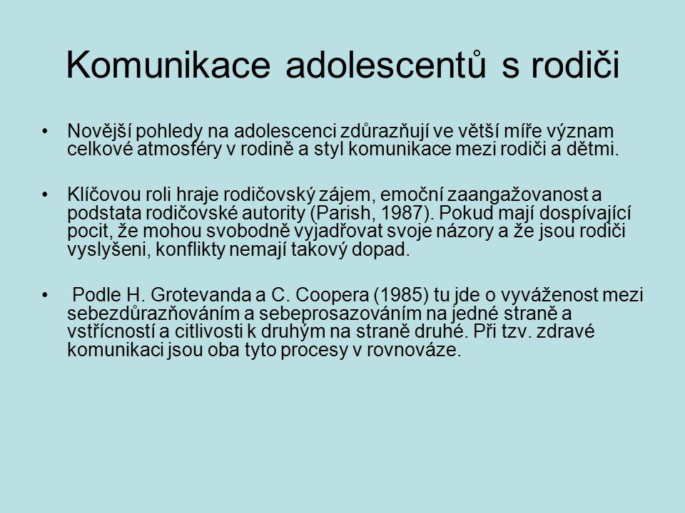 Komunikace adolescentů s rodiči