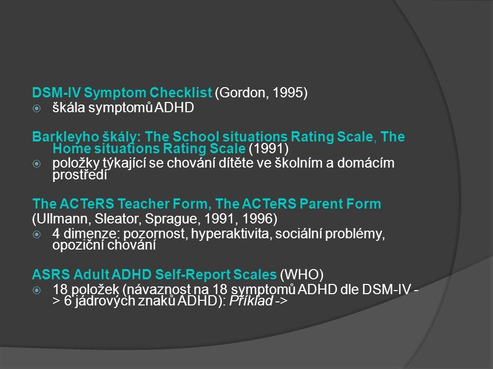 DSM-IV Symptom Checklist (Gordon, 1995)
