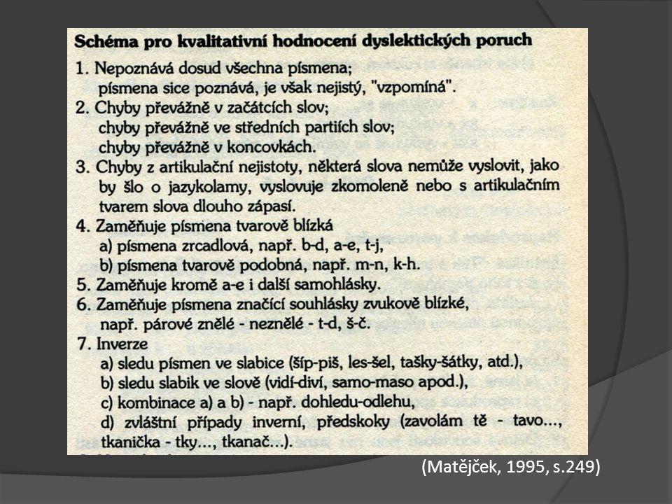 (Matějček, 1995, s.249)