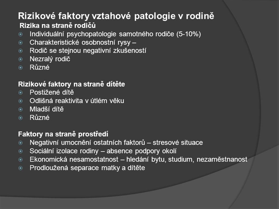 Rizikové faktory vztahové patologie v rodině