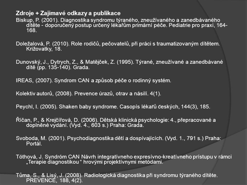 Zdroje + Zajímavé odkazy a publikace