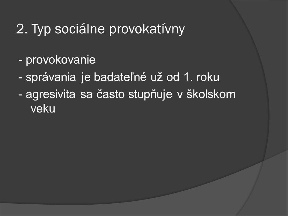 2. Typ sociálne provokatívny