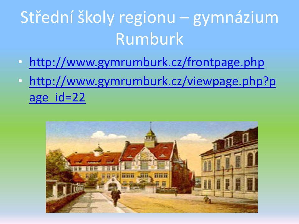 Střední školy regionu – gymnázium Rumburk