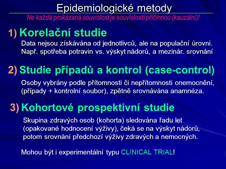 Epidemiologické metody