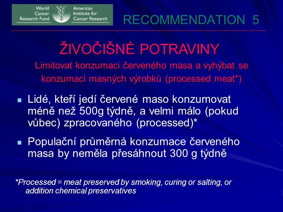 ŽIVOČIŠNÉ POTRAVINY RECOMMENDATION 5