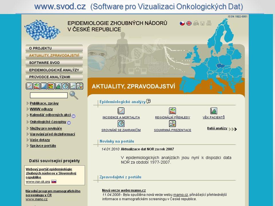 www.svod.cz (Software pro Vizualizaci Onkologických Dat)