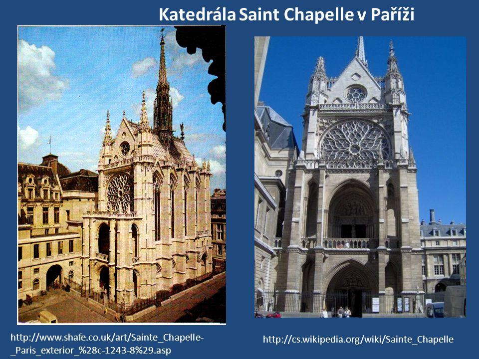 Katedrála Saint Chapelle v Paříži