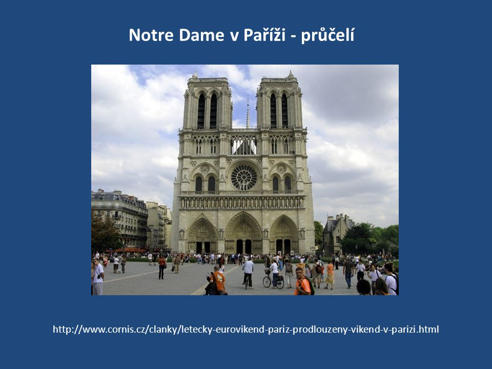 Notre Dame v Paříži - průčelí